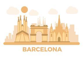 Vettore del punto di riferimento di Barcellona