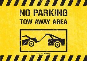 Nessun parcheggio rimorchio via zona traffico segno vettoriale