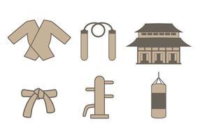 Set di icone Dojo vettore