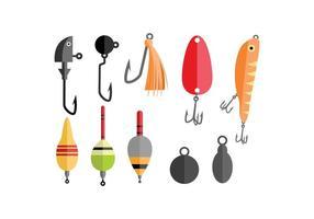 Vettore degli strumenti di pesca