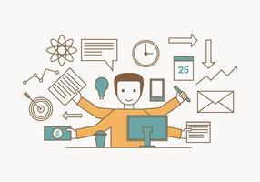 Illustrazione multitasking