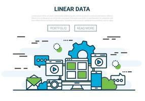 Illustrazione di vettore lineare piatta gratis
