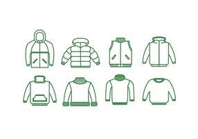 Icona di vettore di giacche