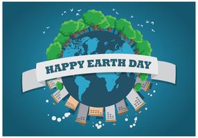 Vettore dell'illustrazione di giornata per la Terra