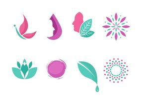 collezione simbolo logo clinica di bellezza vettore