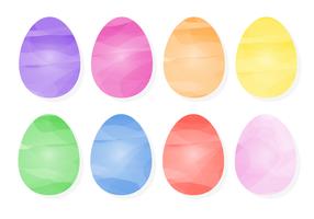 Uova di Pasqua colorate gratis vettore