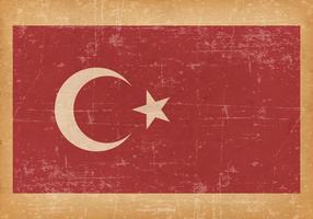 Bandiera del grunge della Turchia vettore