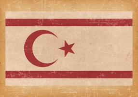 Bandiera del grunge della Repubblica turca di Cipro del Nord vettore