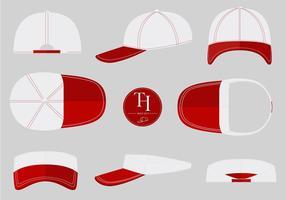 cappello del camionista mock up vettoriali gratis