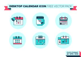 Pacchetto di vettore dell'icona calendario desktop