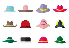 Vettore libero delle icone della raccolta del cappello