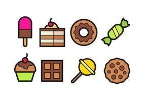 Pacchetto icona cibo dolce vettore