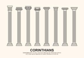 Vettore di colonne corinzie