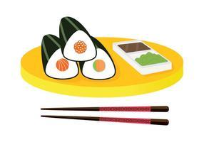 Vettore del piatto di Temaki