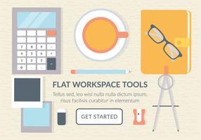 Elementi vettoriali di area di lavoro aziendale gratis