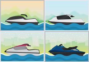 Illustrazione sportiva del pattino del jet vettore