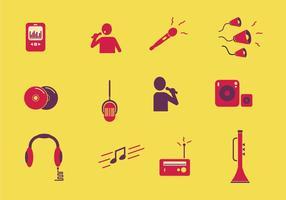 Icona musicale a colori vettore