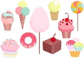 Vettori dolci caramelle