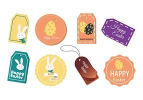 Vettore dell'etichetta e delle carte del regalo di Pasqua