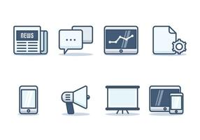 Comunicato stampa Set di icone vettore
