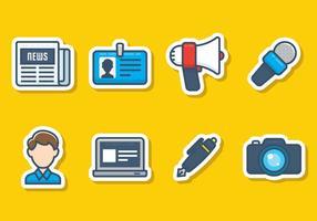 Set di icone del giornalismo vettore