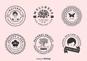 Insieme dell'etichetta di vettore per le cliniche di bellezza