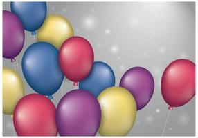 festa palloncino sfondo vettoriale
