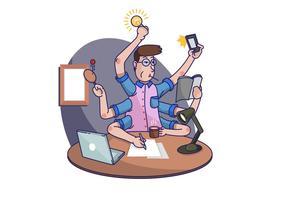 Illustrazione di vettore di attività multitasking