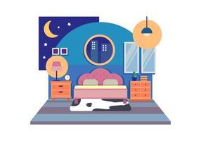 Illustrazione di vettore della decorazione della stanza