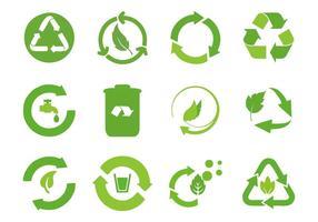 Vettore riciclato delle icone del ciclo