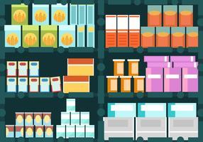 Set di scatola di latta nel gabinetto