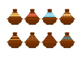 Tajine Pot Vector Pack gratuito