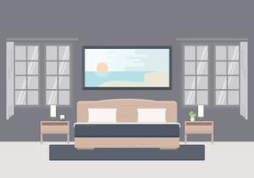 Illustrazione libera della camera da letto con mobili