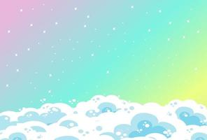 sfondo cielo pastello arcobaleno vuoto con nuvole