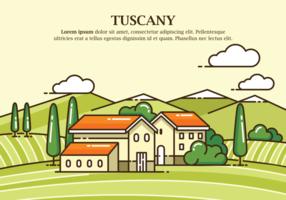 Illustrazione vettoriale di Toscana