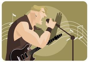 vettore di cantante in metallo