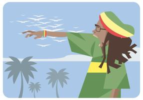 vettore di vocalist reggae
