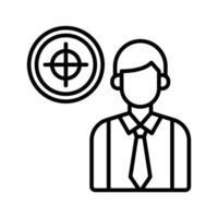 icona di destinazione aziendale vettore