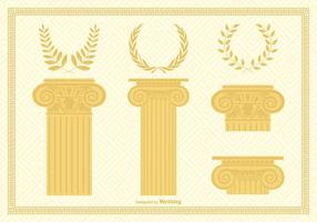 Colonne e corone della capitale corinzia vettore