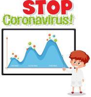 smettere di diffondere il segno del coronavirus vettore