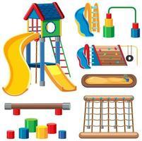 set di parco giochi per bambini nel parco vettore
