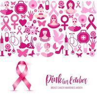progettazione del mese di consapevolezza del cancro al seno