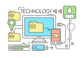 Linear Data Technology gratuito vettore