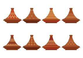 Set di icone vettoriali Tajine