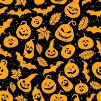 modello astratto senza cuciture di halloween vettore
