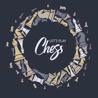 ghirlanda fatta di figure di scacchi vettore