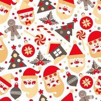 sfondo fatto di elementi di design di Natale
