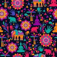 felice festival di holi, elementi colorati vettore