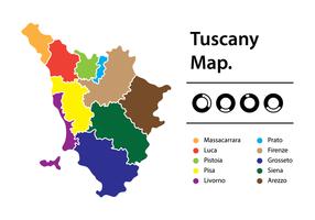 Mappa della Toscana vettore