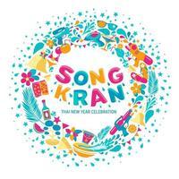 sfondo del festival di songkran vettore